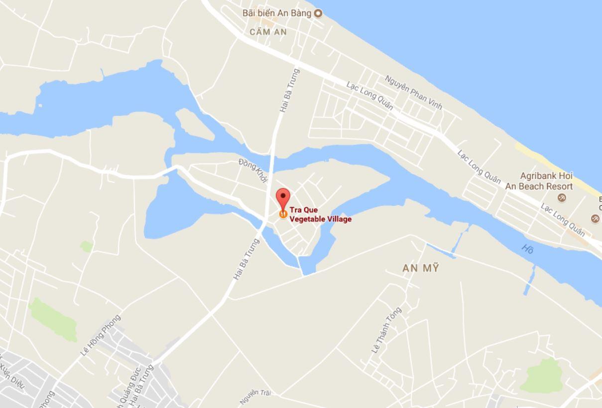 Vị trí làng rau Trà Quế