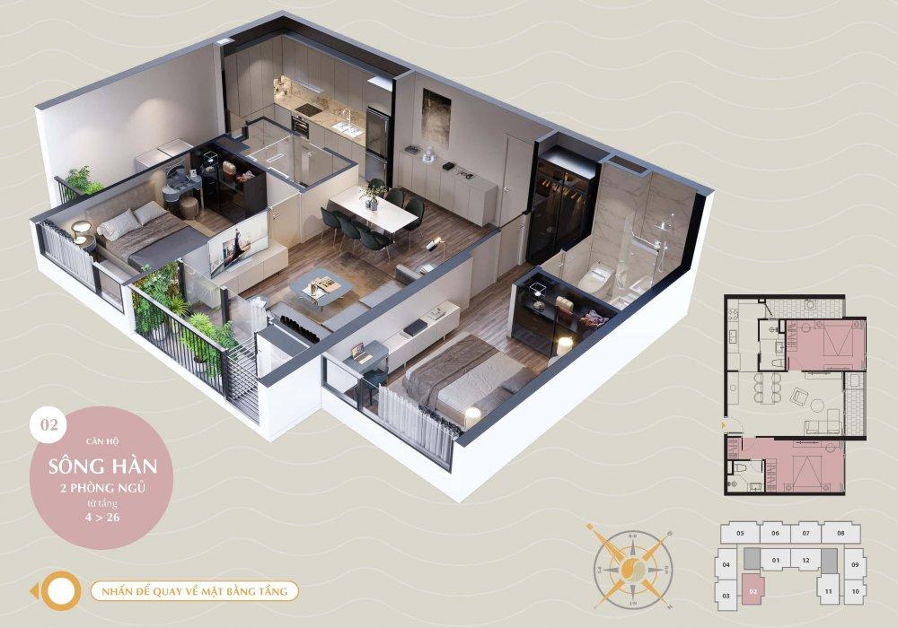 Thiết kế căn hộ Sông Hàn tại The SANG Residence