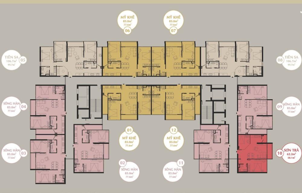 Mặt Bằng căn hộ The SANG Residence
