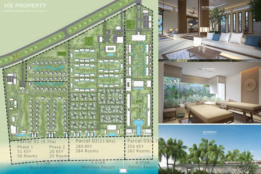 Bản đồ phân khu dự án Maia Quy Nhơn Beach Resort