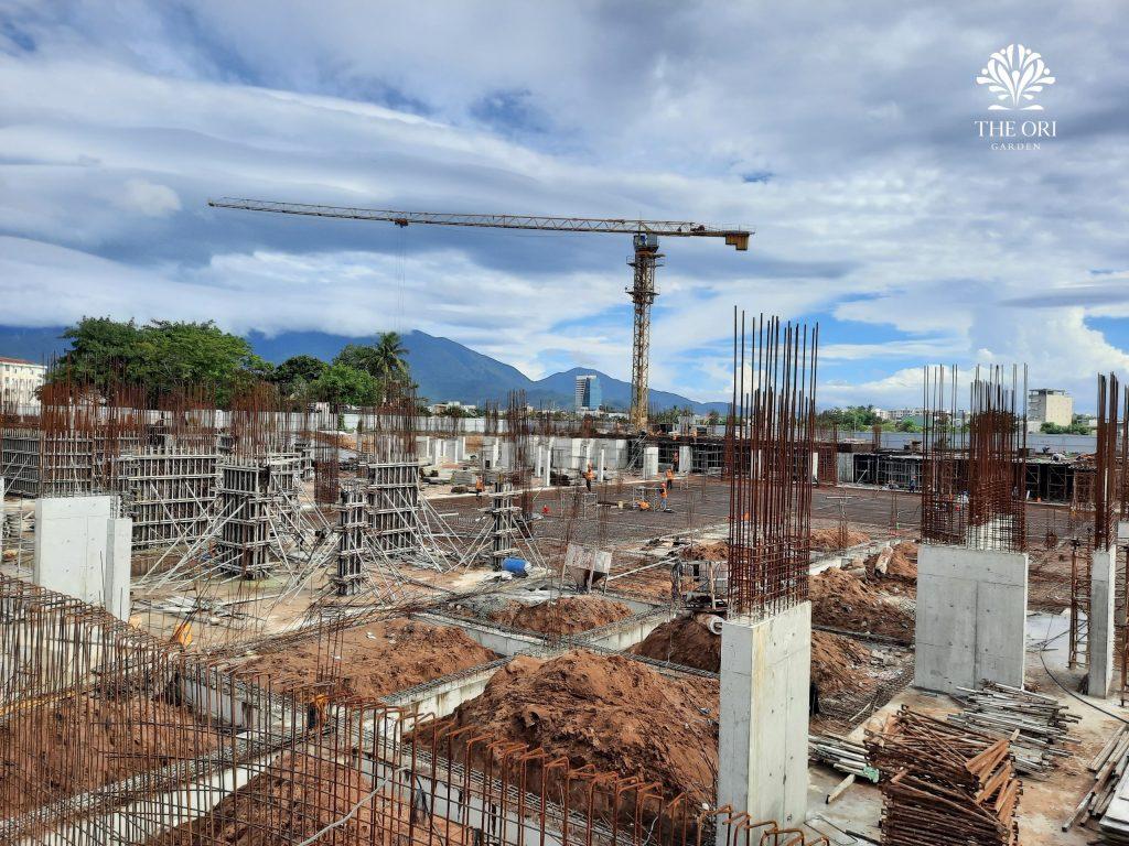 Tiến độ xây dựng dự án The Ori Garden tháng 9