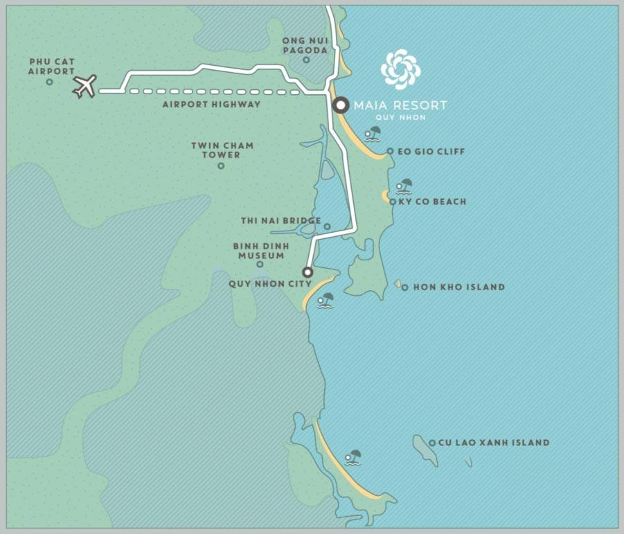 Vị Trí dự án Maia Quy Nhơn Beach Resort