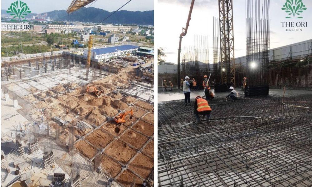 Tiến độ xây dựng dự án The Ori Garden Đà Nẵng